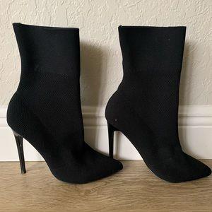 Steve Madden sock boots-black